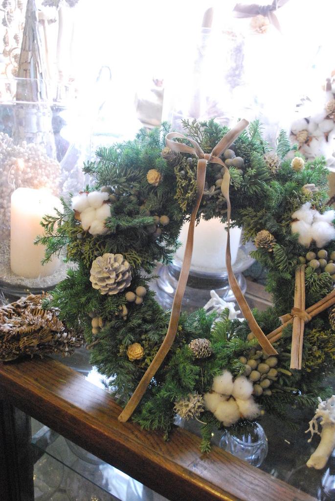 モミの木でつくるクリスマスリース教室
